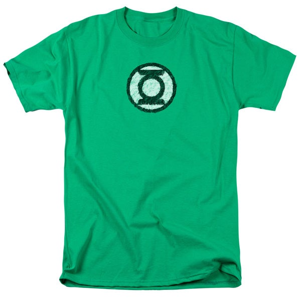 Green Lantern/Scribble Lantern Logo Short Sleeve Adult T-Shirt 18/1 in Kelly Green