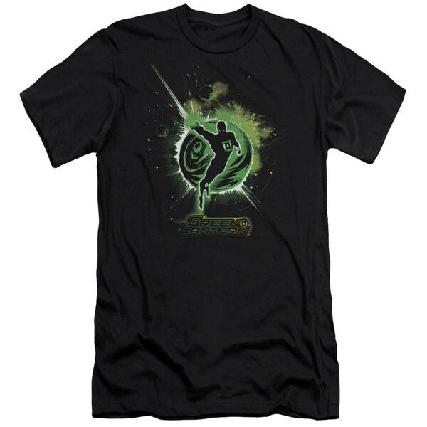 Green Lantern/Shadow Lantern Short Sleeve Adult T-Shirt 30/1 in Black
