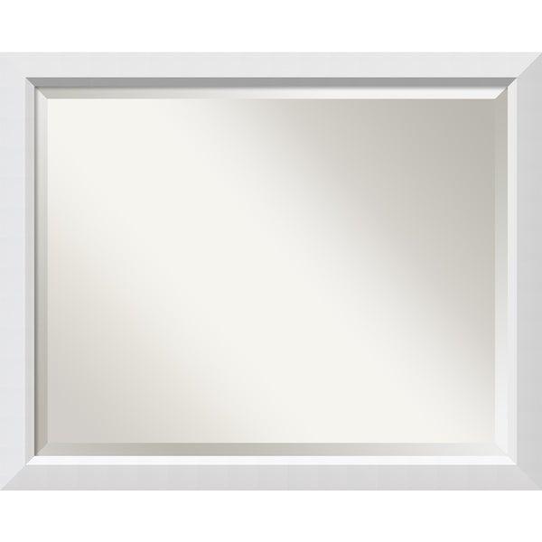 bathroom mirror large fits standard 30 inch to 36 inch cabinet blanco white 31 x 25 inch. Black Bedroom Furniture Sets. Home Design Ideas