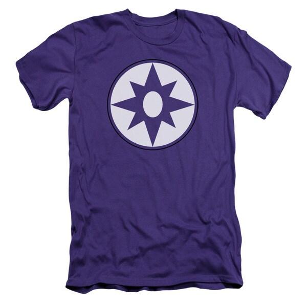 Green Lantern/Star Sapphire Logo Short Sleeve Adult T-Shirt 30/1 in Purple