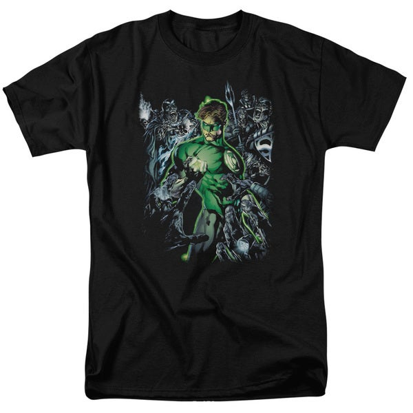 Green Lantern/Surrounded By Death Short Sleeve Adult T-Shirt 18/1 in Black