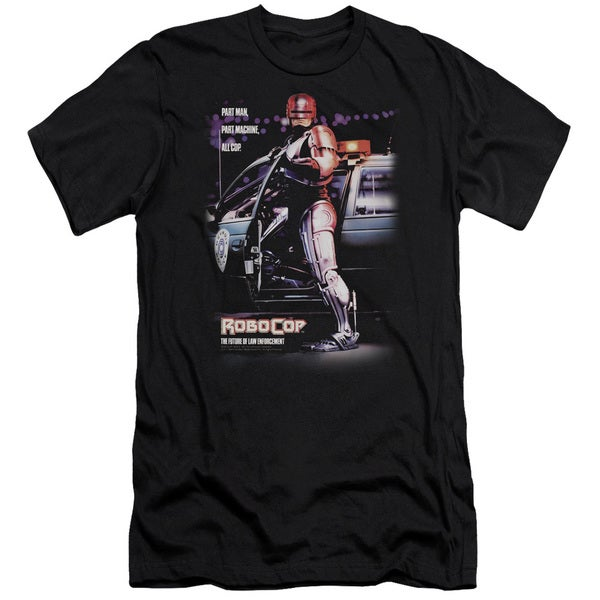 MGM/Robocop/Poster Short Sleeve Adult T-Shirt 30/1 in Black