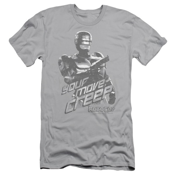 MGM/Robocop/Your Move Creep Short Sleeve Adult T-Shirt 30/1 in Silver