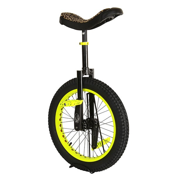 Koxx Fluorescent Yellow Steel and Aluminum 20-inch Trials Unicycle
