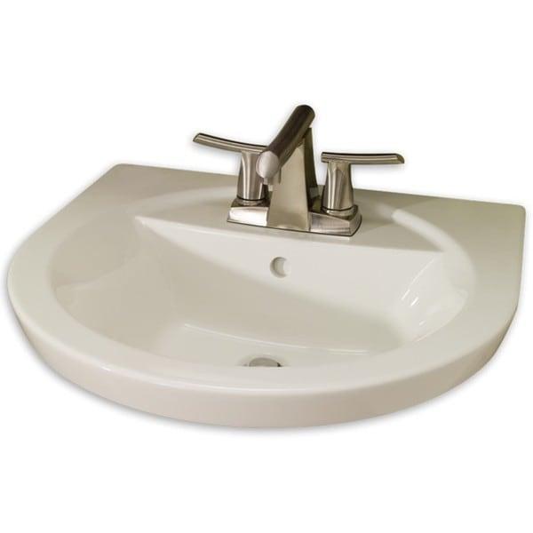 American Standard Tropic White Porcelain Petite Pedestal Lavatory Top