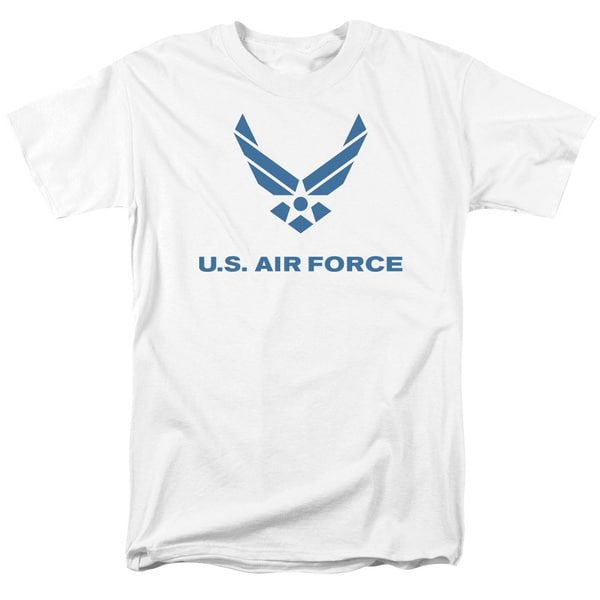 Air Force/Distressed Logo Short Sleeve Adult T-Shirt 18/1 in White