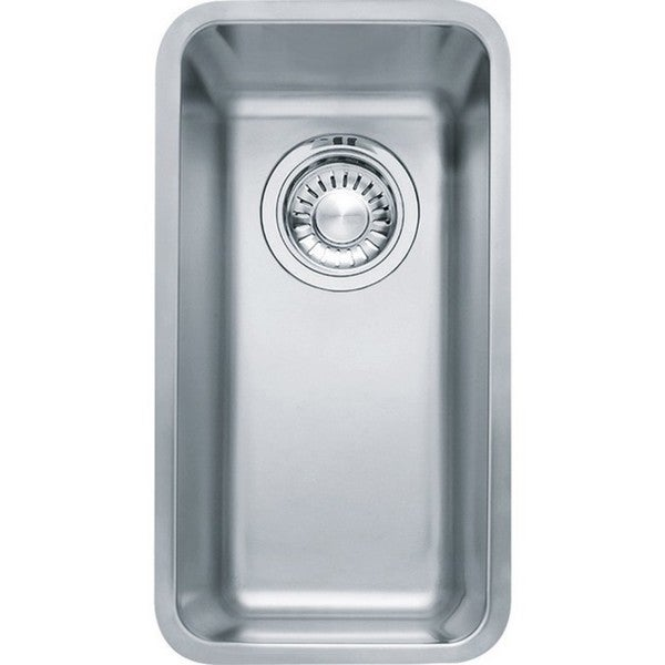 Franke Kubus Silver Stainless-steel Single-bowl Undermount Sink