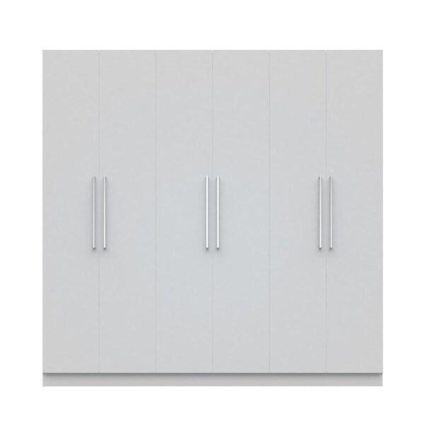 Manhattan Comfort Eldridge 2.0 91-inch 3-section Wardrobe with 4 Drawers and 6 Doors 20703769