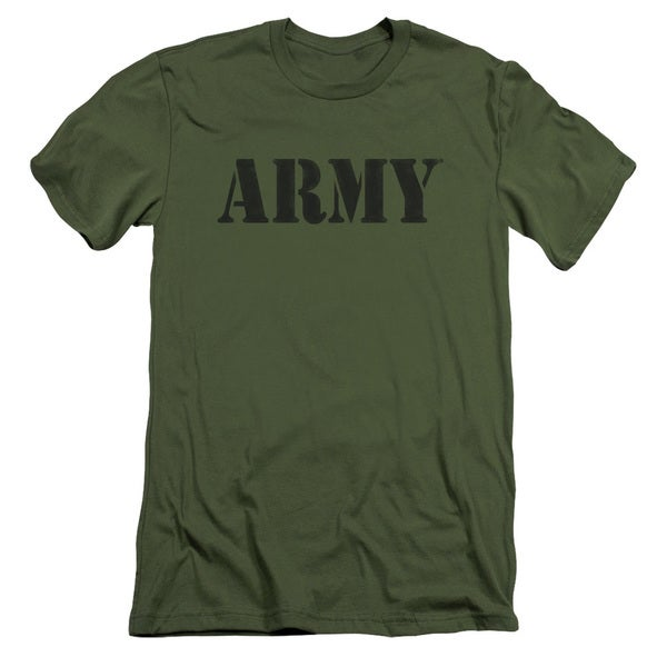 Army/Army Short Sleeve Adult T-Shirt 30/1 in Military Green