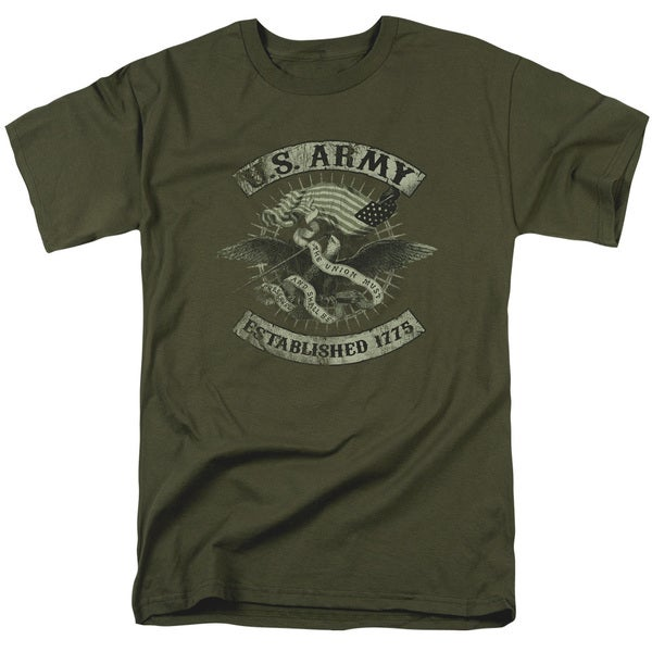 Army/Union Eagle Short Sleeve Adult T-Shirt 18/1 in Military Green
