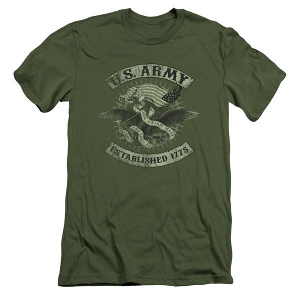 Army/Union Eagle Short Sleeve Adult T-Shirt 30/1 in Military Green