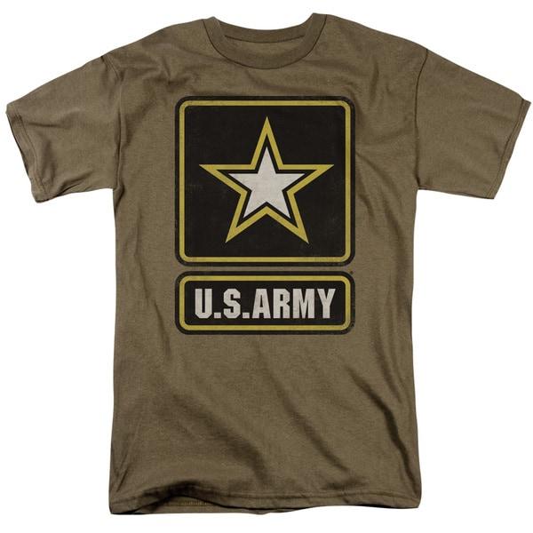 Army/Big Logo Short Sleeve Adult T-Shirt 18/1 in Safari Green