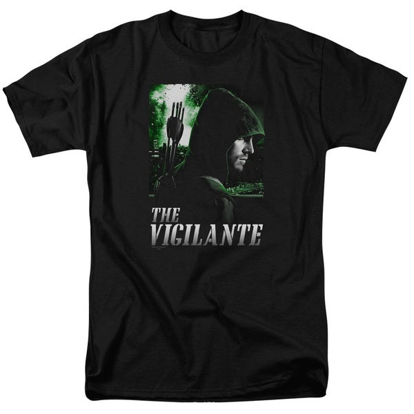 Arrow/Star City Defender Short Sleeve Adult T-Shirt 18/1 in Black