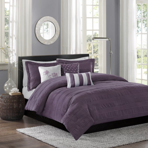 Madison Park Richmond Plum Duvet Cover Set