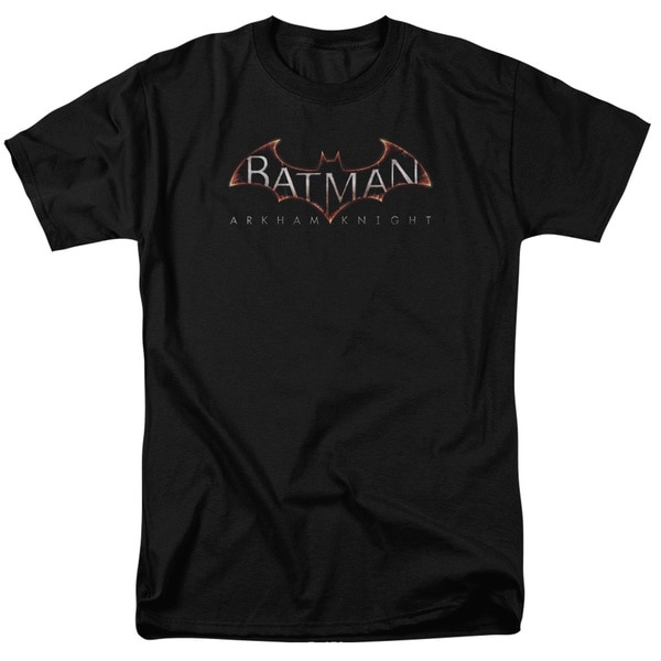 Batman Arkham Knight/ Logo Short Sleeve Adult T-Shirt 18/1 in Black