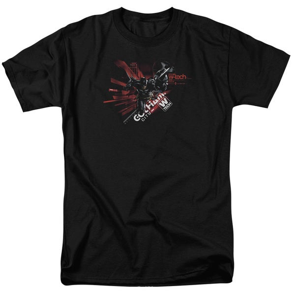 Batman Arkham Knight/Ak Tech Short Sleeve Adult T-Shirt 18/1 in Black