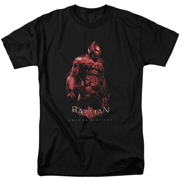 Batman Arkham Knight/Knight Short Sleeve Adult T-Shirt 18/1 in Black