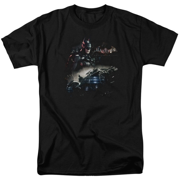 Batman Arkham Knight/Knight Rider Short Sleeve Adult T-Shirt 18/1 in Black