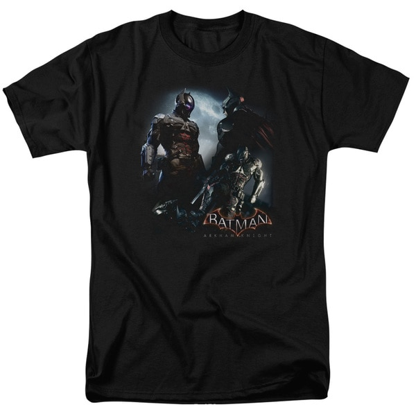 Batman Arkham Knight/Face Off Short Sleeve Adult T-Shirt 18/1 in Black