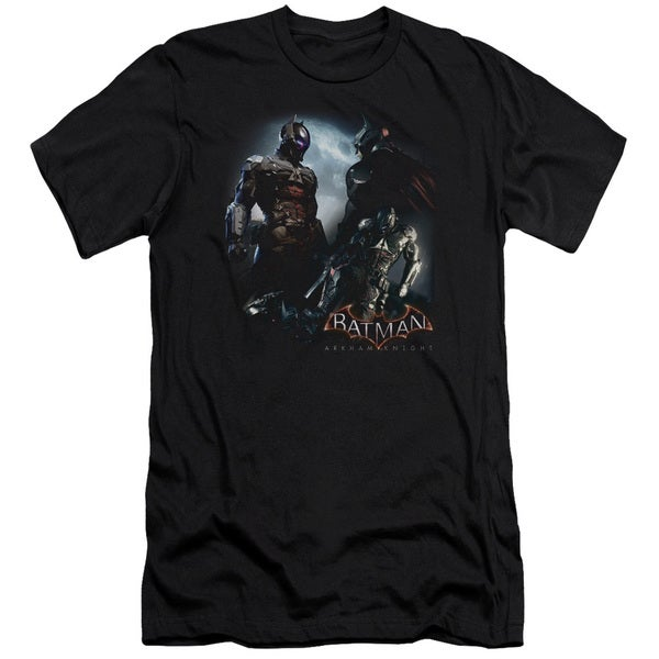 Batman Arkham Knight/Face Off Short Sleeve Adult T-Shirt 30/1 in Black