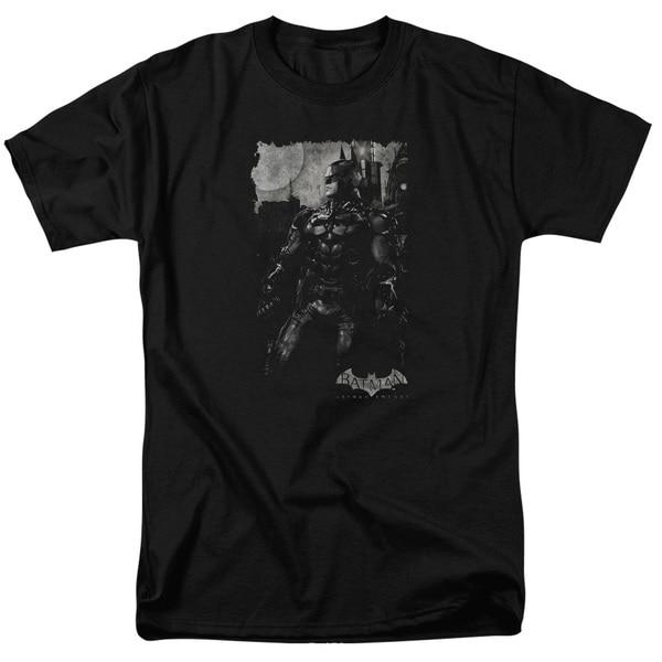 Batman Arkham Knight/Bat Brood Short Sleeve Adult T-Shirt 18/1 in Black