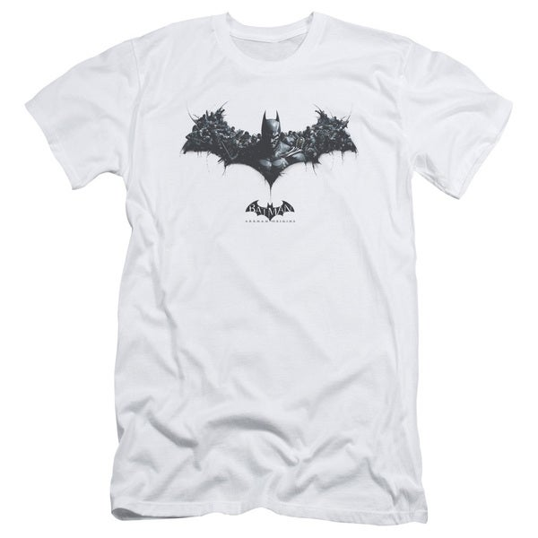 Batman Arkham Origins/Bat Of Enemies Short Sleeve Adult T-Shirt 30/1 in White
