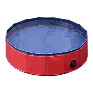 "Pawhut Foldable PVC Pet Swimming Pool - 63""d x 12""h"