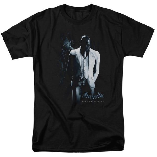 Batman Arkham Origins/Black Mask Short Sleeve Adult T-Shirt 18/1 in Black