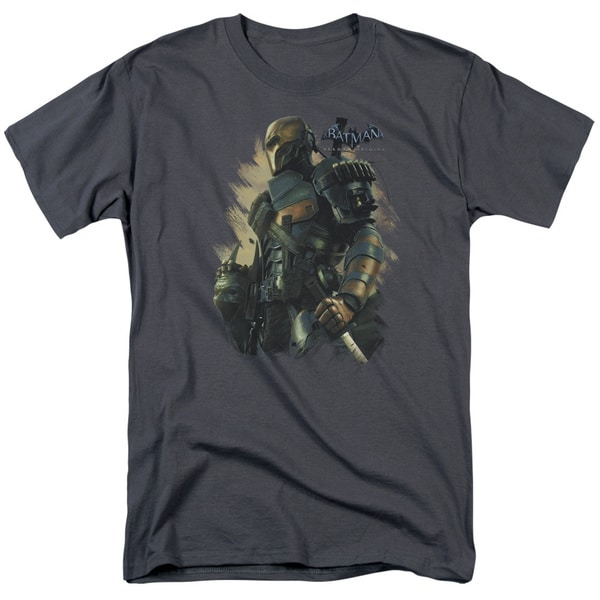 Batman Arkham Origins/Deathstroke Short Sleeve Adult T-Shirt 18/1 in Charcoal