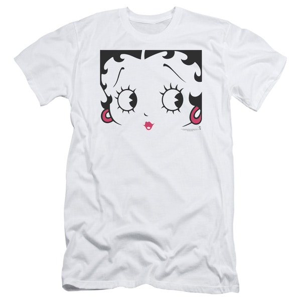 Boop/Close Up Short Sleeve Adult T-Shirt 30/1 in White