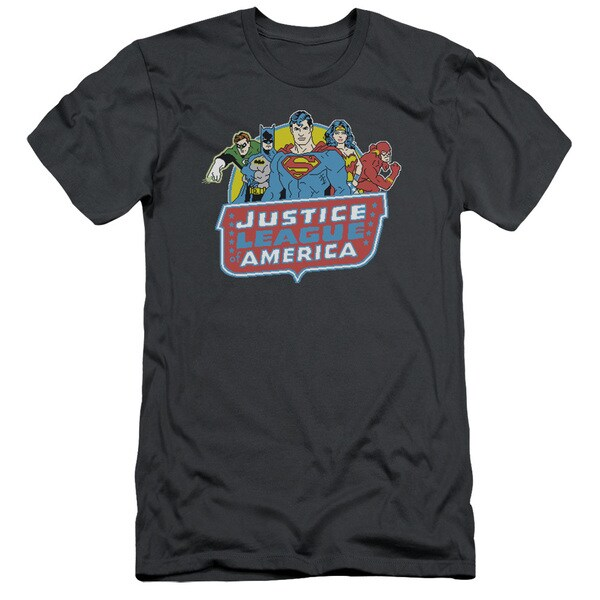 DC/8 Bit League Short Sleeve Adult T-Shirt 30/1 in Charcoal