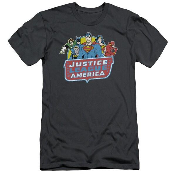 DC/8 Bit League Short Sleeve Adult T-Shirt 30/1 in Charcoal