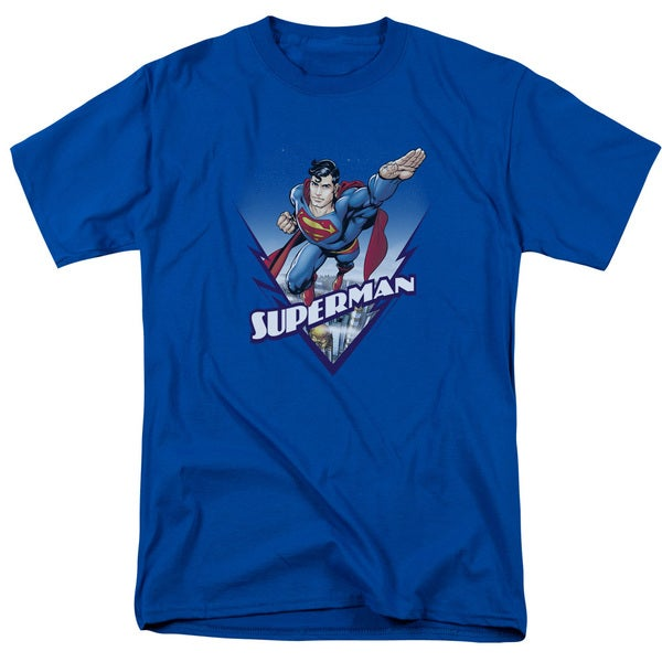 Superman/Looks Like A Job For Short Sleeve Adult T-Shirt 18/1 in Royal