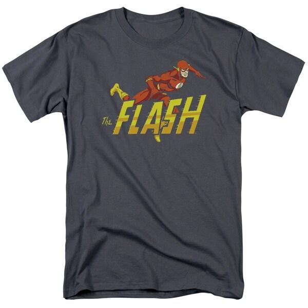 DC/ 8 Bit Flash Short Sleeve Adult T-Shirt 18/1 in Black