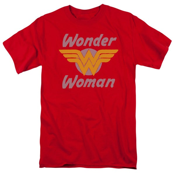 DC/Wonder Wings Short Sleeve Adult T-Shirt 18/1 in Red