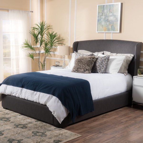 Christopher Knight Home Nocturne Upholstered Fabric Queen Bed Set