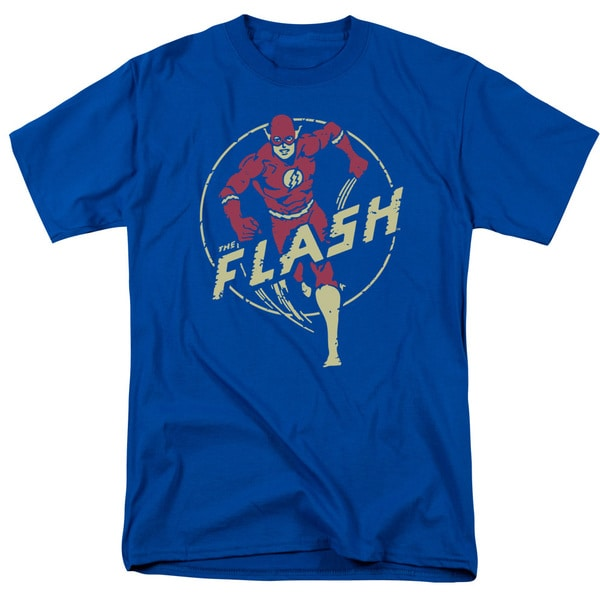 DC/Flash Comics Short Sleeve Adult T-Shirt 18/1 in Royal Blue