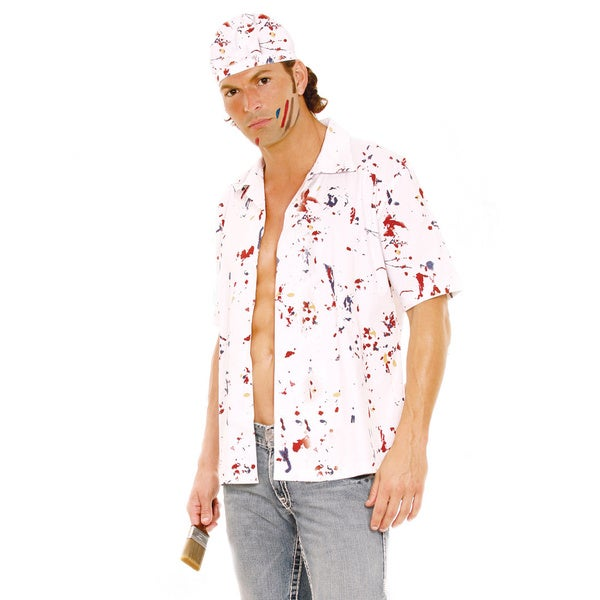 Paint the Town Costume With Shirt, Hat and Paintbrush