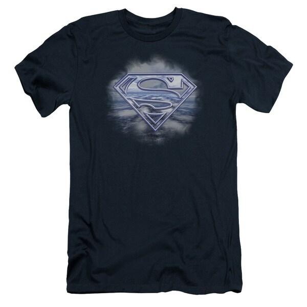 Superman/Freedom Of Flight Short Sleeve Adult T-Shirt 30/1 in Navy