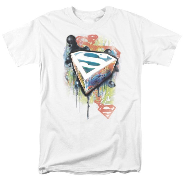 Superman/Urban Shields Short Sleeve Adult T-Shirt 18/1 in White
