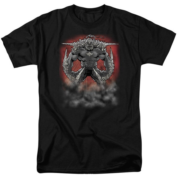 Superman/Doomsday Dust Short Sleeve Adult T-Shirt 18/1 in Black