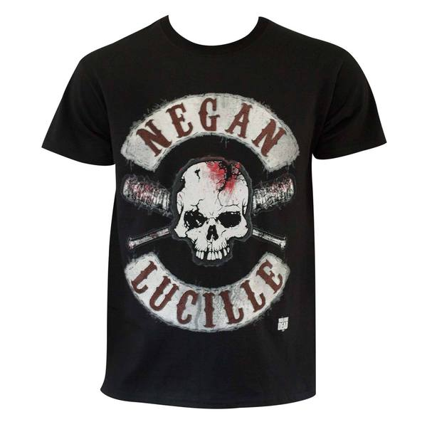 The Walking Dead' Negan and Lucille Black Cotton T-shirt
