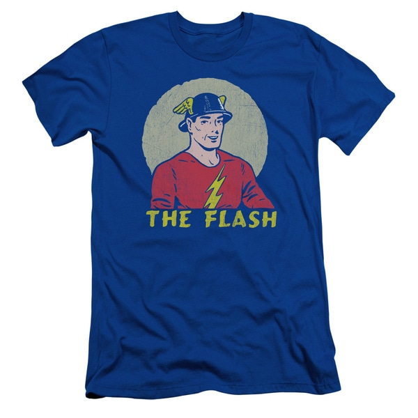 DC/Faded Circle Short Sleeve Adult T-Shirt 30/1 in Royal Blue