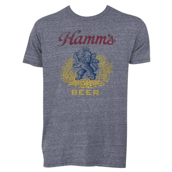 Hamm's Logo Men's Graphite Grey Cotton and Polyester T-shirt