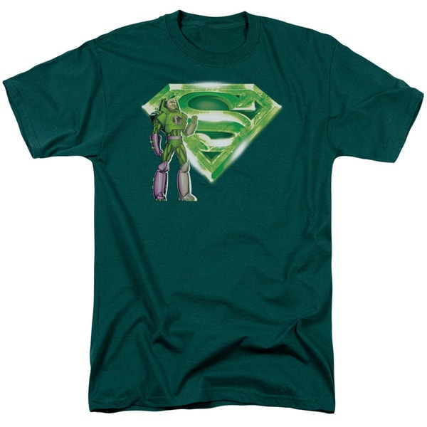 Superman/Lex & Kryptonite Logo Short Sleeve Adult T-Shirt 18/1 in Hunter Green