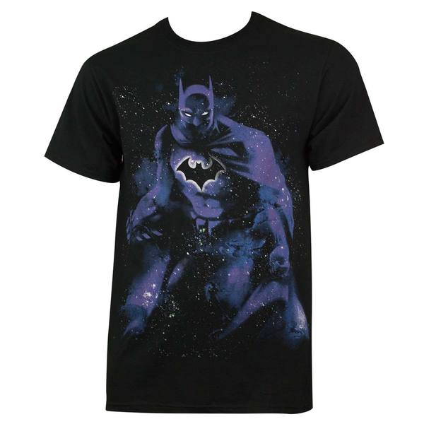 Black Cotton Batman Crewneck T-shirt