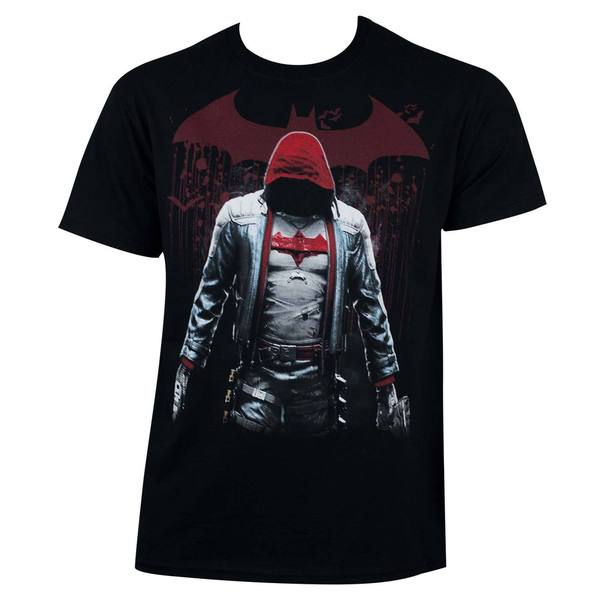 Men's Batman Black Cotton Red Hood T-shirt