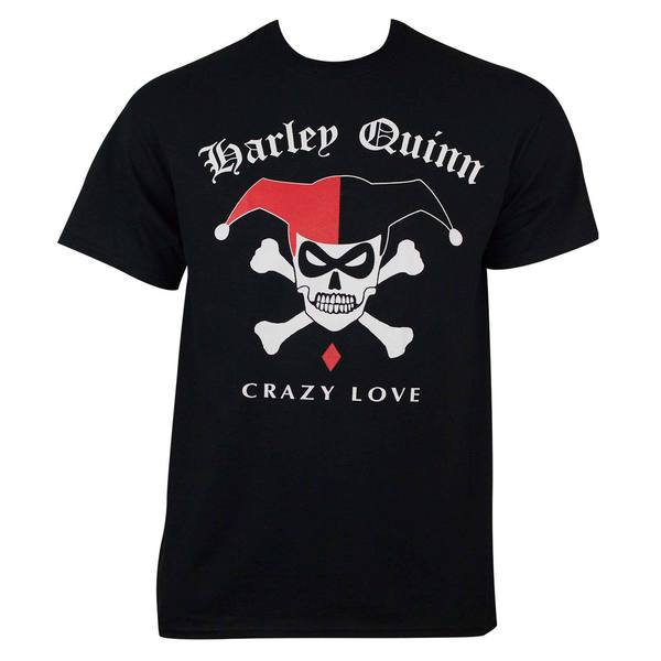 Harley Quinn Men's Skull Black Cotton T-shirt