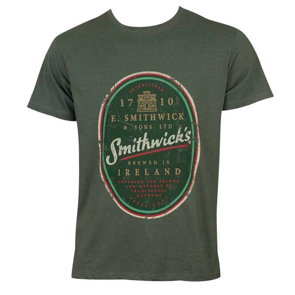 Smithwicks Men's Green Cotton/Polyester Distressed T-shirt