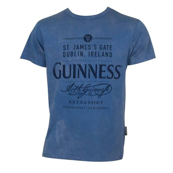 Men's Guinness Blue Vintage T-shirt